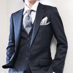 《結婚式 服装》 男性のポケットチーフ おしゃれな折り方を紹介☆